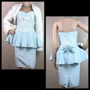 Vintage Scott McClintock Seafoam Mint Prom Dress